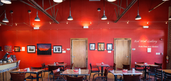 Yadkin Arts Red Wall Gallery