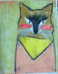 9/18/21 - Children's Art Classes with the Queen (Ages 9 to 14) - Colorful Monoprint Pet Portrait Workshop with Laurie Basham (aka Queen B)
