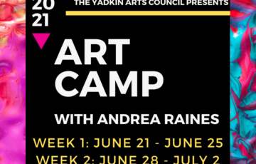 Art Camp Registration Open for Ages 6 to 13 - Week 1: June 21st-25th / Week 2: June 28th-July 2nd
