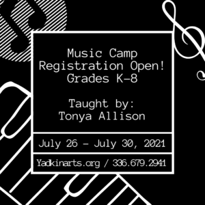 Music Camp Registration Open for Grades K-8 - July 26th-30th, 2021